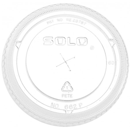 Tapa Plana con Cruz PET Cristal Ø9,8cm (1000 Uds)