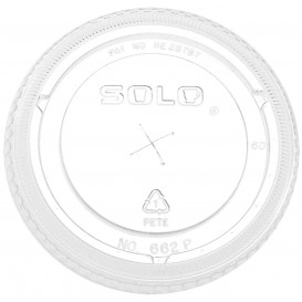 Tapa Plana con Cruz PET Cristal Ø10,7cm (500 Uds)