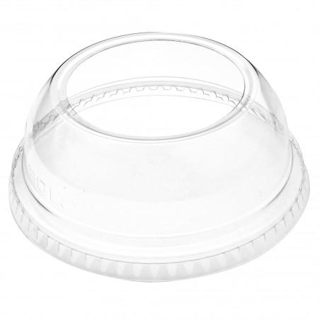 Tapa Cúpula Abierta PET Cristal Ø9,2cm (1000 Uds)