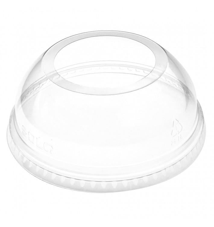 Tapa Cúpula Abierta PET Cristal Ø9,8cm (100 Uds)
