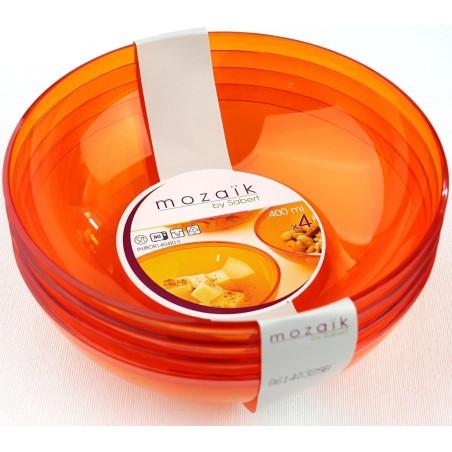 Bol de Plástico Naranja 400ml Ø 14 cm (60 Uds)