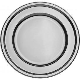 Bajoplato de Plastico PET Redondo Plata 30 cm (5 Uds)