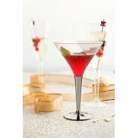 Copa de Plastico Cocktail Pie Plata 100 ml (48 Uds)