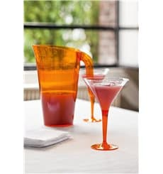 Copa de Plastico Cocktail Pie Naranja 100 ml (48 Uds)