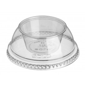 "Tapa con Tarrina PET Cristal ""Dress"" Ø9,2cm (100 Uds)"