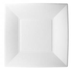 Plato Cuadrado Caña Azucar Nice Blanco 180x180mm (50 Uds)