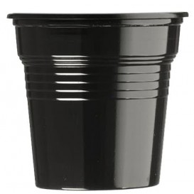 Vaso de Plástico PS Negro 80ml Ø5,7cm (50 Uds)