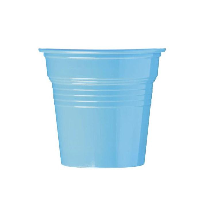 Vaso de Plástico PS Azul Claro 80ml Ø5,7cm (50 Uds)