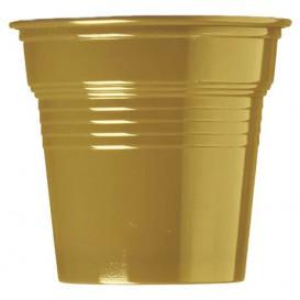 Vaso de Plástico PS Oro 80ml Ø5,7cm (50 Uds)