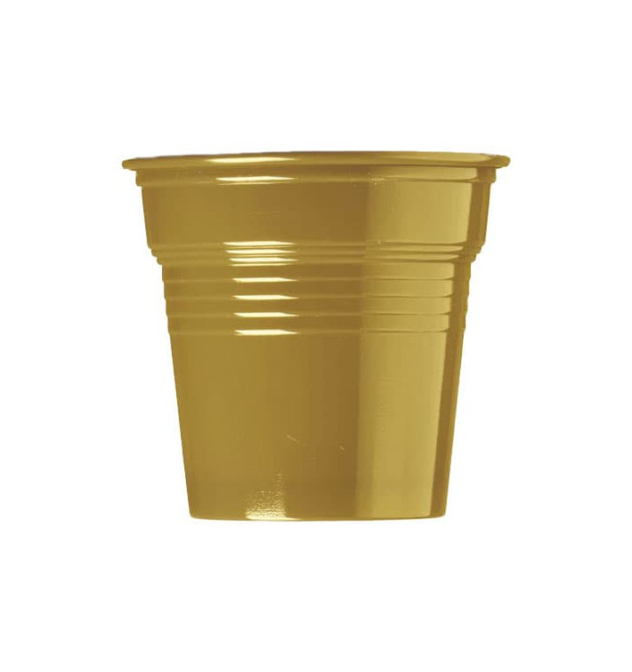 Vaso de Plástico PS Oro 80ml Ø5,7cm (1500 Uds)