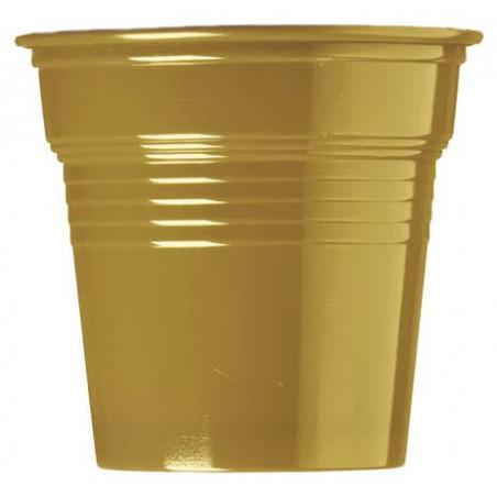 Vaso de Plástico PS Oro 80ml Ø5,7cm (750 Uds)