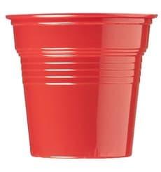 Vaso de Plástico PS Rojo 80ml Ø5,7cm (50 Uds)