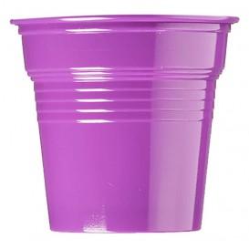 Vaso de Plástico PS Violeta 80ml Ø5,7cm (50 Uds)