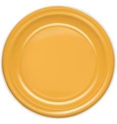 Plato de Plastico PS Hondo Mango 220 mm (600 Uds)