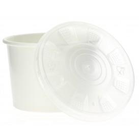 Tarrina de Cartón Blanco con Tapa PP 250ml (50 Uds)