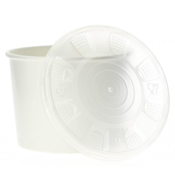 Tarrina de Cartón Blanco con Tapa PP 350ml (50 Uds)