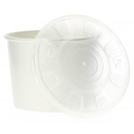 Tarrina de Cartón Blanco con Tapa PP 350ml (250 Uds)