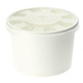 Tarrina de Cartón Blanco con Tapa PP 488ml (250 Uds)