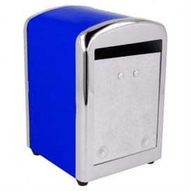 Dispensador Miniservis de Acero Azul 10,5x9,7x14cm (1 Uds)