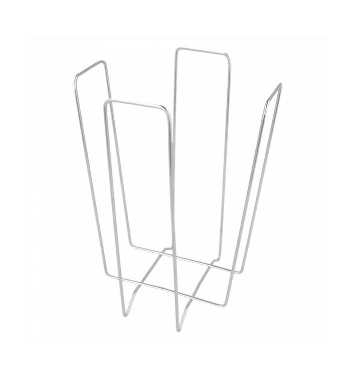Servilletero de Alambre Plata 22x22x18cm (1 Ud)