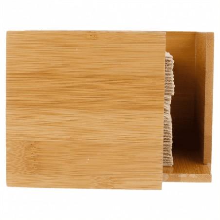 Servilletero para Cocktail de Bambú 13,5x13,5x10cm (1 Ud)