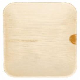 Mini Plato Cuadrado Hoja de Palma 11,5x11,5x1,5cm (25 Uds)