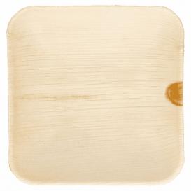 Mini Plato Cuadrado Hoja de Palma 11,5x11,5x1,5cm (200 Uds)