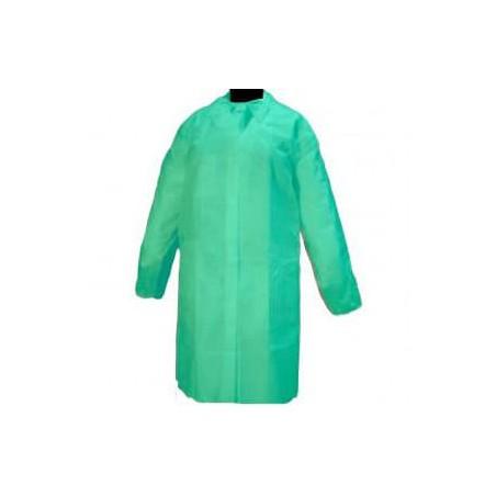 Bata Visita TST PP con Velcro y Sin Bolsillo Verde XL (10 Uds)
