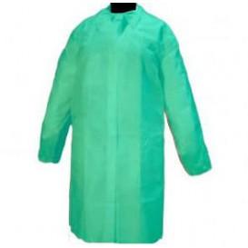 Bata Visita TST PP con Velcro y Sin Bolsillo Verde XL (100 Uds)