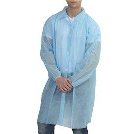 Bata Visita TST PP con Velcro y Sin Bolsillo Azul XL (10 Uds)