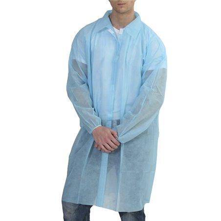 Bata Visita TST PP con Velcro y Sin Bolsillo Azul XL (200 Uds)