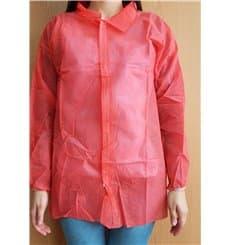 Bata Cadete TST PP 35gr Con Velcro Sin Bolsillo Rojo (100 Uds)