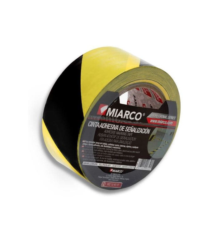 Cinta Adhesiva Señalización 5cmx33m Amarilla/Negra (36 Uds)