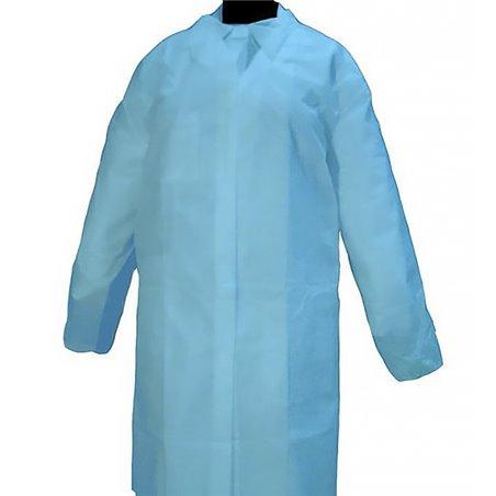 Bata Cadete TST PP 35gr Con Velcro Sin Bolsillo Azul (100 Uds)