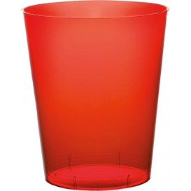 Vaso de Plastico Moon Rojo Transp. PS 350ml (20 Uds)