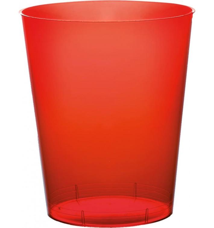 Vaso de Plastico Moon Rojo Transp. PS 350ml (400 Uds)