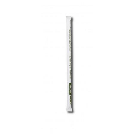 Pajita Recta Enfundada de PLA Negra Ø6mm 14cm (13000 Uds)