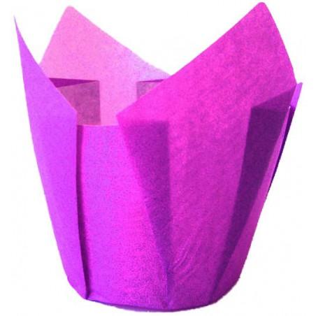 Cápsula Muffin Tulipa Antigrasa 72 mm Violeta (135 Uds)