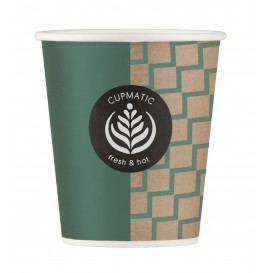 Vaso Carton Cupmatic 9Oz/280ml Ø8,0cm (100 Uds)