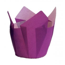 Cápsula Muffin Tulipa Ø50x50/80 mm Violeta (125 Uds)