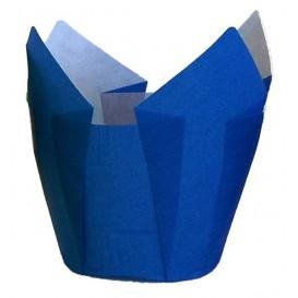Cápsula Muffin Tulipa Ø50x42/72 mm Azul (2160 Uds)