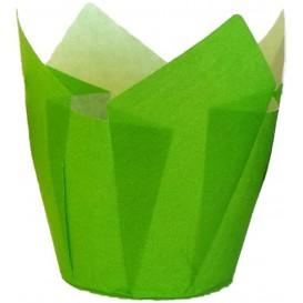 Cápsula Muffin Tulipa Ø50x50/80 mm Verde (125 Uds)