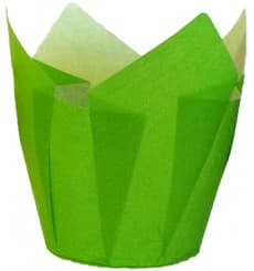 Cápsula Muffin Tulipa Ø50x42/72 mm Verde (2160 Uds)