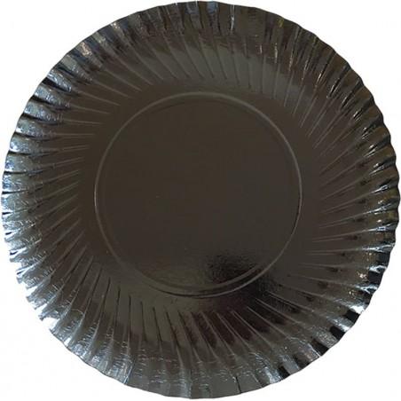 Plato de Carton Redondo Negro 270 mm (100 Uds)