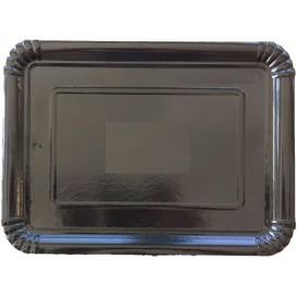 Bandeja de Carton Rectangular Negra 18x24 cm (100 Uds)