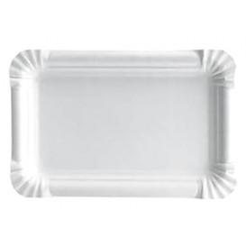 Bandeja de Carton Rectangular Blanca 10x16 cm (1200 Uds)