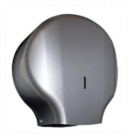 Dispensador Papel Higiénico 300m ABS Plata (1 Ud)
