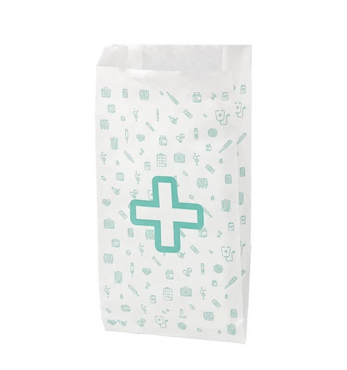 Bolsa de Papel Blanca Farmacia 14+7x27cm (125 Uds)