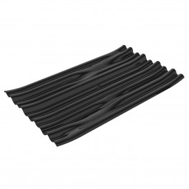 "Plato Degustación PS ""Bamboo"" Negro 10x6cm (500 Uds)"