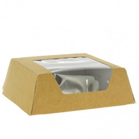 Caja de Carton Kraft con Ventana 120x120x40mm (25 Uds)